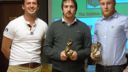 Pictured at Hethersett Athletic's presentation evening are, from left to right, Michael Green, team
