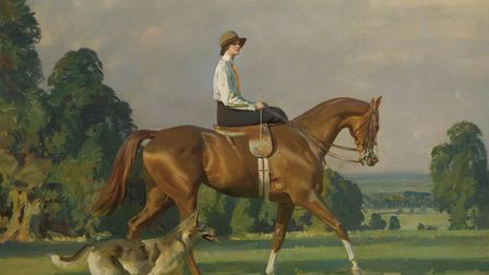 Miss Ruth Brady on Bugle Call, painted by Sir Alfred Munnings. Picture: Submitted by Dick Barton.