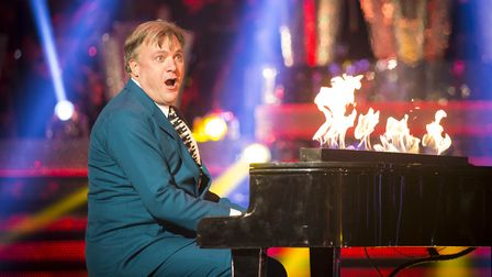 Ed Balls as a contestant on Strictly Come Dancing. Photo credit: Guy Levy/BBC/PA Wire