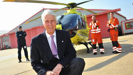 Patrick Peal, chief executive of the East Anglian Air Ambulance.Picture by SIMON FINLAY.