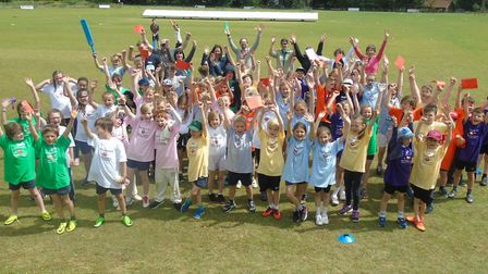 Youngsters enjoying themselves in Hethersett and Tas Valley's festival
