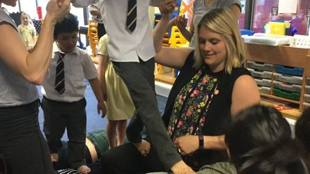 Casus Circus workshop at Charles Darwin Primary. Picture: Inspiration Trust