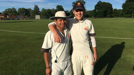 Sam Mann and Joey Greenslade featured in a club record partnership of 249 for Great Melton A. Pictur