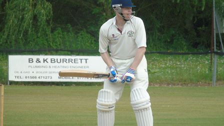 Hethersett and Tas Valley opener Ian Bryce who scored 151 against Cambridgeshire side Foxton in the