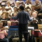 Members of the Lowestoft Choral Society singing with the Royal Philharmonic Orchestra at Lowestoft M
