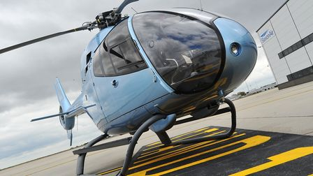 The SaxonAir Eurocopter EC120 will be at the 2017 Old Buckenham Airshow. Picture: SIMON FINLAY