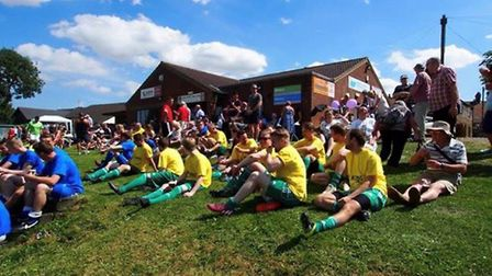 The first Les King Memorial football match held in 2016. Picture: Wymondham Town FC