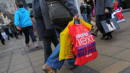Shoppers out for a bargain in the Christmas sales.PHOTO: ANTONY KELLY