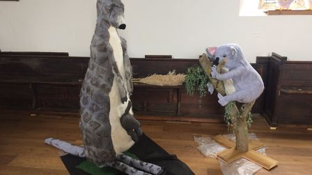 Some of the knitted creations which be on display at the Blossom and Yarn Festival 2017. Picture: Re