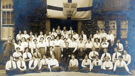 The 1913-15 intake at 'St Etheldreda's College', which we think must have been The Norwich Diocesan