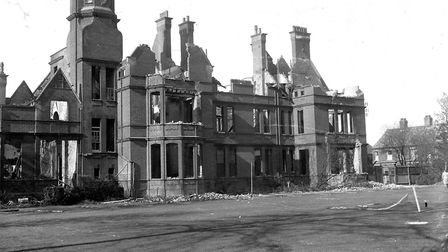 It was gutted in a Second World War air raid on Norwich, but you can still see how handsome the trai