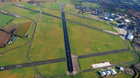 Aerial view of Norwich Airport. Picture: Mike Page