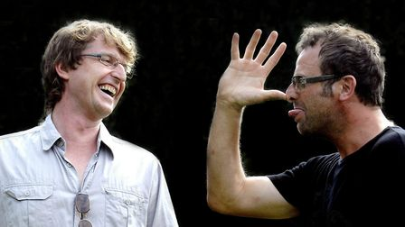 Red Card Comedy Club duo Derek Robertson and Andrew Bunn who are behind Laugh in the Park. Picture: