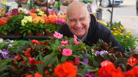 David Large who is retiring from his plant stall at Wymondham Market after 47 years. Picture: DENISE