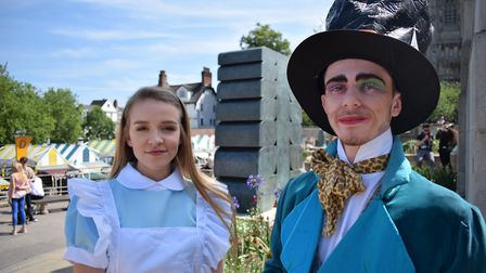 Alice Back In Wonderland is being performed by Norwich Theatre Royal Youth Company. Matilda Bailes