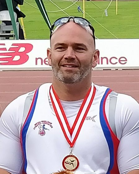City of Norwich Athletic Club's Danny Nobbs won gold in the seated javelin and seated shot put at th
