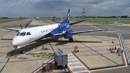 Generic views of Norwich Airport. An Eastern Airways aircaft. Picture: DENISE BRADLEY