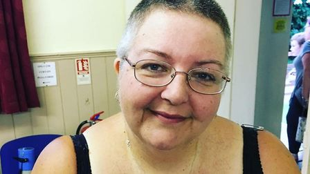Karen Weir after she braved the shave in aid of Macmillan Cancer Care. Picture: Karen Weir