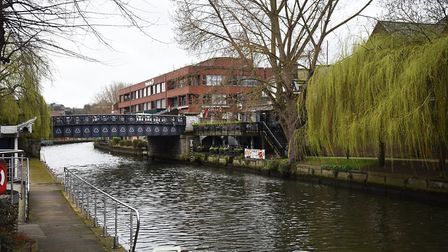 Foundary Bridge on Prince of Wales Road crossing the River Wensum. Picture: ANTONY KELLY