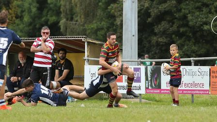Tom Stanley in action against Chelmsford. Picture: Andy Micklethwaite