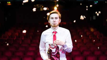 Elliot Hunter as Stephen in Sound Idea's production of Ushers: The Front of House Musical
