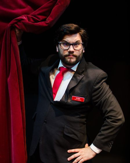 Joe Betts as Robin in Sound Idea's production of Ushers: The Front of House Musical
