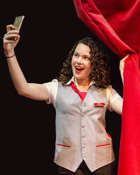 Kathryn White as Rosie in Sound Idea's production of Ushers: The Front of House Musical