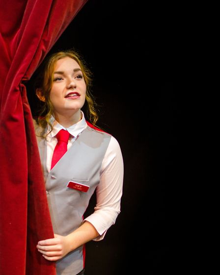 Jess Stewart as Lucy in Sound Idea's production of Ushers: The Front of House Musical
