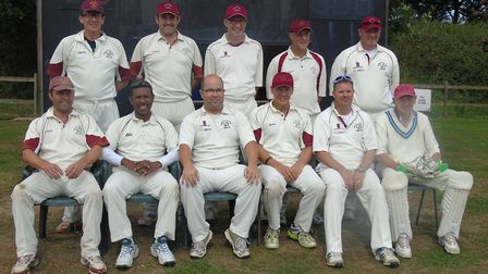 The Hethersett & Tas Valley over-40s side who finished runners-up in the county competition. Picture
