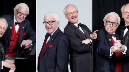 Barry Cryer and pianist Colin Sell who will be appearing at Norwich Playhouse. Photo: Andrew H Willi