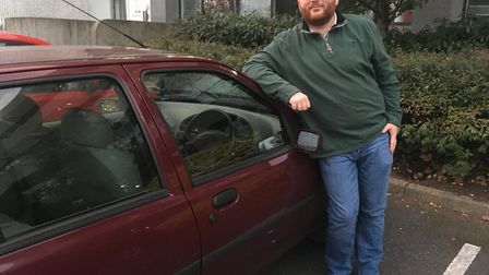 James Laughlin was fined for parking in a disabled parking bay while getting sick. Picture: ANDREW S