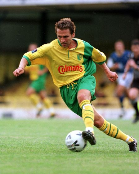 Norwich City player Darren Eadie during a friendly with Southend United in 1999.