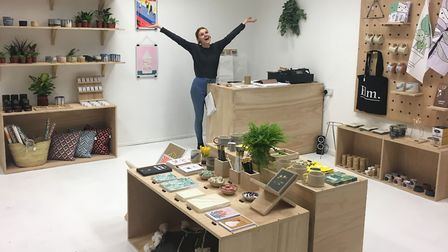 Owner Paige Mitchell in her shop Elm, in Norwich (Photo: Paige Mitchell)