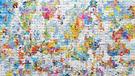 Bitmap 2017, made up of deconstructed and reassembled data maps. Photo: Joni Smith