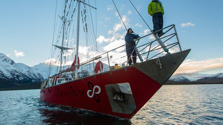 Sea Gypsies follows the vessel Infinity and her crew on an 8,000 voyage from New Zealand to Patago