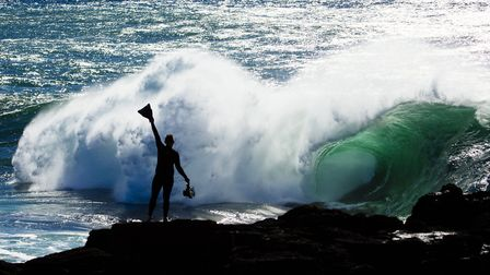 Ray Collins pictured in a still from the film Fish People. Photo: Donald L Hedden