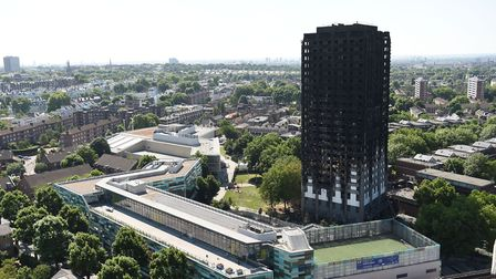 The charred remains of Grenfell Tower. Picture: DAVID MIRZOEFF/PA WIRE