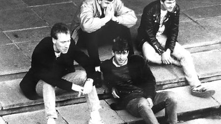 The Legendary Gazelles as they were in 1989 and now set to play their first gig in 27 years. Photo: