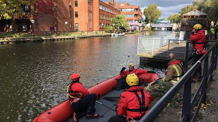 Emergency services at Riverside in Norwich. Pic: Andrew Stone.