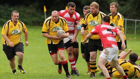 Action from the match between the second teams of Swaffham and Thetford. Picture: Eric Nye