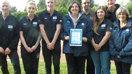 Hethersett Hawks riders, helpers and supporters with the Clubmark accreditation the club has just be