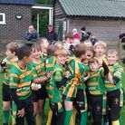 Crusaders U10s have reached the Prima Tiger Cup quarter-finals at Welford Road. Picture: Crusaders R