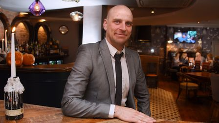 Oliver McErlain, manager, at the Lamb Inn, newly re-opened after it's £350,000 refurbishment. Pictur