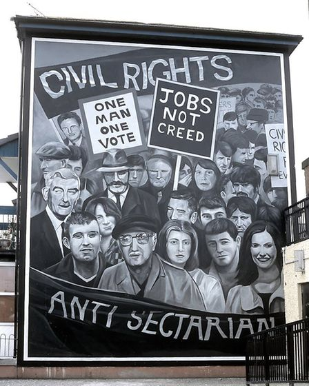 Civil rights mural featured in Art, Conflict & Remembering: the Murals of the Bogside Artists. Photo
