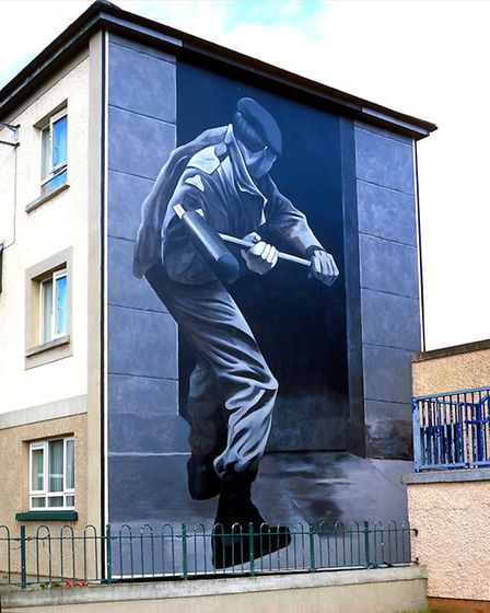 Operation motorman mural featured in Art, Conflict & Remembering: the Murals of the Bogside Artists.