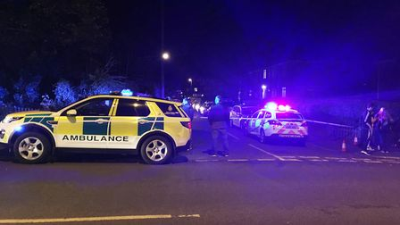 A police cordon at Half Mile Road in Norwich. Picture: ANDREW STONE