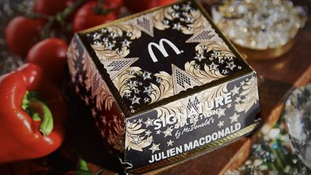 McDonald's has revealed an unexpected pairing with designer Julien Macdonald (Picture: McDionald's)
