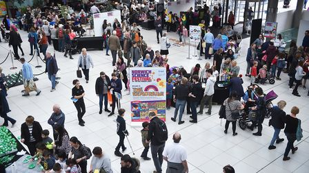 Norwich Science Festival at The Forum.Picture: ANTONY KELLY