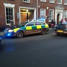 Emergency services outside the Jane Austen College in Norwich after Michael Sousa fell down the stai