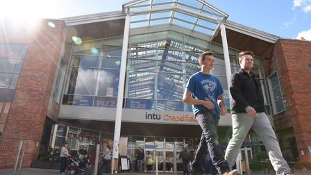 Intu Chapelfield in Norwich. A private equity firm has bought a 50% stake in the shopping centre for